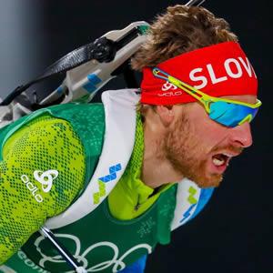 Slovenski biatlonec Klemen Bauer zna vzdrževati energijo